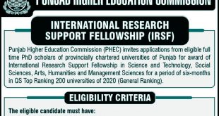 PHEC International Research Support Fellowship